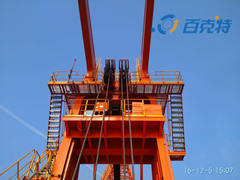 Gantry Crane Wire Rope Inspection on Sea Port